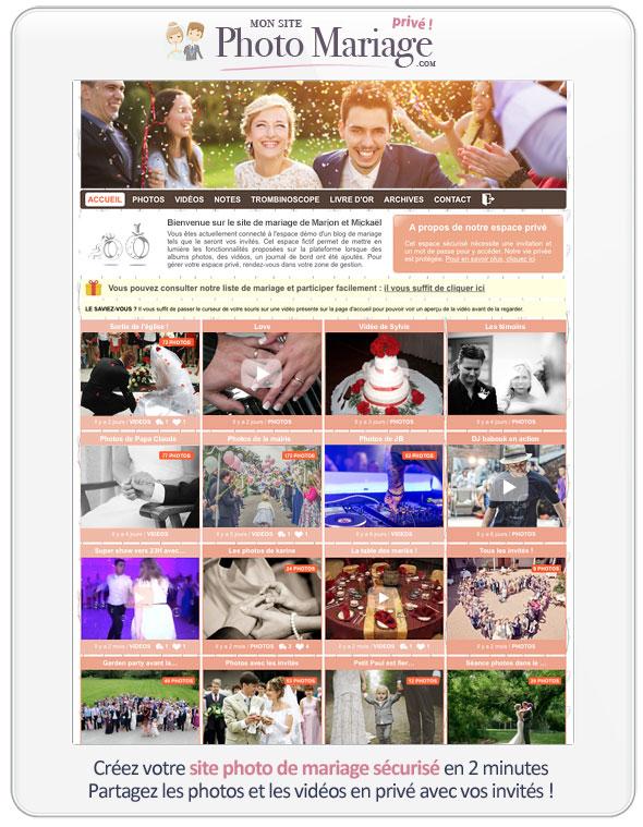 Partager ses photos de mariage de façon sécurisée avec ses invités est désormais possible grâce à Mon site photo mariage