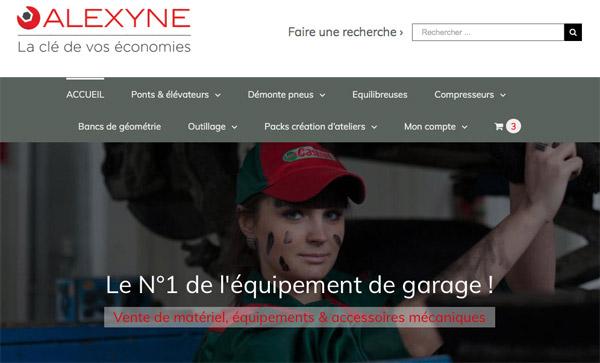 Alexyne fait partie des boutiques les mieux notées pour l'équipement de garage